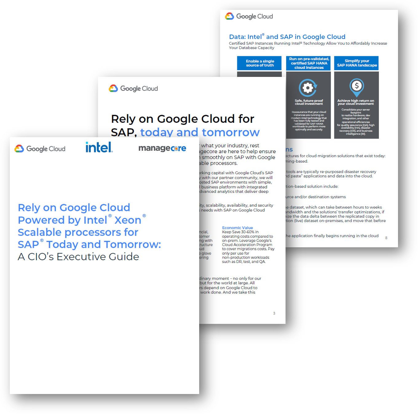 Rely on Google Cloud powered by Intel for SAP Today and Tomorrow: A CIO's Executive Guide